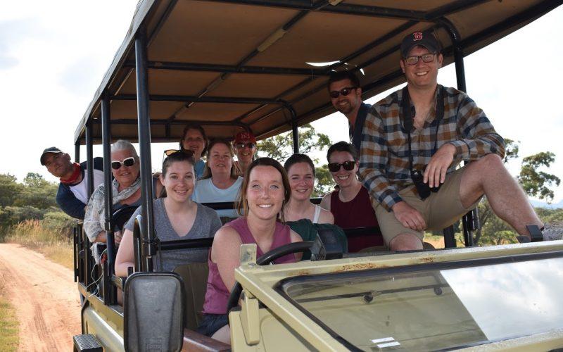 Group photo on a safari
